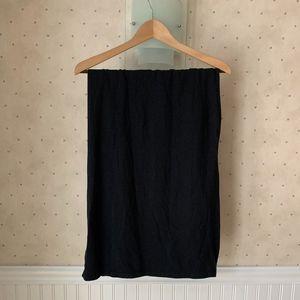 Athleta Black Cotton Slit Skirt